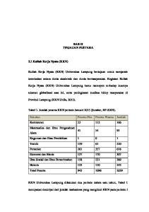 BAB II TINJAUAN PUSTAKA. Kuliah Kerja Nyata (KKN) Universitas Lampung bertujuan untuk menjamin