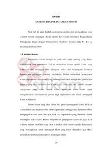 BAB III ANALISIS DAN PERANCANGAN SISTEM. Penanganan Klaim dengan Administrative Workflow Systems pada PT. E-T-A