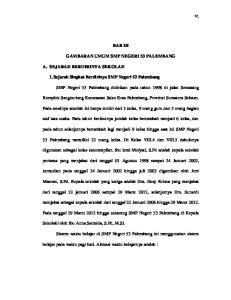 BAB III GAMBARAN UMUM SMP NEGERI 53 PALEMBANG. 1. Sejarah Singkat Berdirinya SMP Negeri 53 Palembang