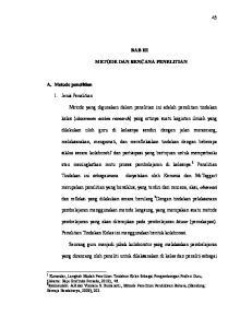 BAB III METODE DAN RENCANA PENELITIAN. kelas (classroom action research) yang artinya suatu kegiatan ilmiah yang