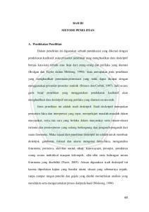 BAB III METODE PENELITIAN. berupa kata-kata tertulis atau lisan dari orang-orang dan perilaku yang diamati