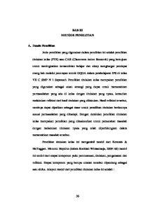 BAB III METODE PENELITIAN. tindakan kelas (PTK) atau CAR (Classroom Action Research) yang bertujuan