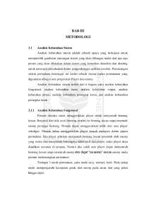 BAB III METODOLOGI 3.1 Analisis Kebutuhan Sistem Analisis Kebutuhan Fungsional
