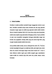 BAB III METODOLOGI PENELITIAN. Menurut Sumadi Suryabrata (2010: 85), Ex post facto artinya data dikumpulkan