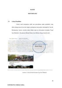 BAB III METODOLOGI. Sari Mandala I, Kecamatan Medan Denai, kota Medan sebagai daerah studi