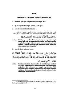BAB III PEMAHAMAN AIR DALAM PERSPEKTIF AL-QUR AN. A. Inventaris Ayat-ayat Yang Berhubungan Dengan Air : 1