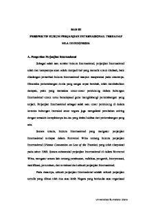 BAB III PERSPEKTIF HUKUM PERJANJIAN INTERNASIONAL TERHADAP MLA DI INDONESIA. dampak, yaitu yang memaksa unsur-unsur pendukung dalam hubungan