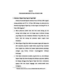 BAB III. POLIGAMI MENURUT PP No. 45 TAHUN Ketentuan Poligami Bagi Pegawai Negeri Sipil