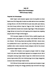 BAB. III Sejarah Dan Perkembangan WIFI (Wireless Fidelity)