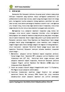Bab III Urusan Desentralisasi 2. KESEHATAN
