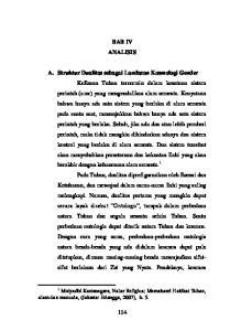 BAB IV ANALISIS. alam dan manusia, (Jakarta: Erlangga, 2007), h Mulyadhi Kartanegara, Nalar Religius; Memahami Hakikat Tuhan,