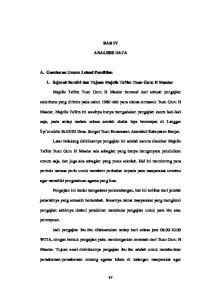 BAB IV ANALISIS DATA. 1. Sejarah Berdiri dan Tujuan Majelis Ta'lim Tuan Guru H Masdar