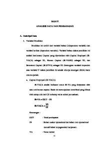 BAB IV ANALISIS DATA DAN PEMBAHASAN. adalah Intellectual Capital yang diproksikan oleh Capital Employed (ib-
