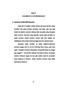 BAB IV ANALISIS DATA DAN PEMBAHASAN. berasal dari jawaban responden terhadap daftar pernyataan yang dituangkan
