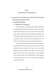 BAB IV ANALISIS HASIL DAN PEMBAHASAN. A. Penerapan Sistem Pengendalian Intern Pada Instalasi Farmasi Klinik. Pertamedika Sinabung Jakarta Selatan