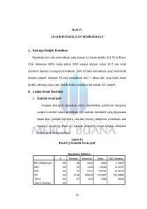 BAB IV ANALISIS HASIL DAN PEMBAHASAN. Efek Indonesia (BEI) mulai tahun 2009 sampai dengan tahun 2013 dan telah