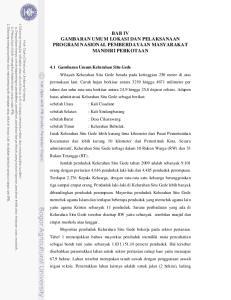BAB IV GAMBARAN UMUM LOKASI DAN PELAKSANAAN PROGRAM NASIONAL PEMBERDAYAAN MASYARAKAT MANDIRI PERKOTAAN