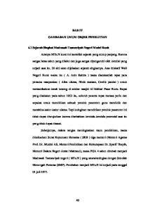 BAB IV GAMBARAN UMUM OBJEK PENELITIAN. 4.1 Sejarah Singkat Madrasah Tsanawiyah Negeri Model Kuok
