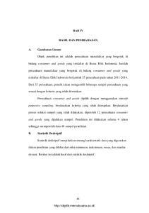BAB IV HASIL DAN PEMBAHASAN. bidang consumer and goods yang terdaftar di Bursa Efek Indonesia. Jumlah