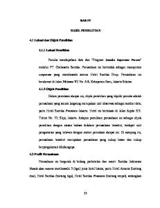 BAB IV HASIL PENELITIAN. beralamat di Jalan Melawai VII No. 6-8, Kebayoran Baru, Jakarta Selatan