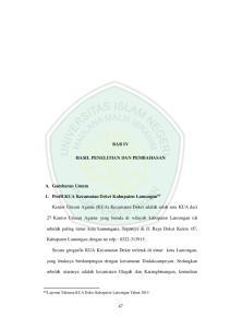 BAB IV HASIL PENELITIAN DAN PEMBAHASAN. 1. Profil KUA Kecamatan Deket Kabupaten Lamongan 63