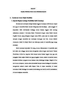 BAB IV HASIL PENELITIAN DAN PEMBAHASAN. 1. Sejarah Singkat Lembaga Pendidikan BJEC Surabaya