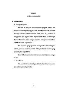 BAB IV HASIL PENELITIAN. Menengah Provinsi Kalimantan Selatan. Oleh karena itu, penelitian ini