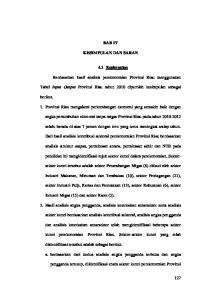 BAB IV KESIMPULAN DAN SARAN. 4.1 Kesimpulan. Berdasarkan hasil analisis perekonomian Provinsi Riau menggunakan