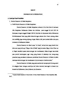 BAB IV PAPARAN DATA PENELITIAN. Ulin Banjarbaru Kalimantan Selatan dan didirikan pada tanggal 26 Juli 1975 M
