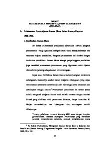 BAB IV PELAKSANAAN KONSEP PAGURON TAMAN SISWA ( ). A. Pelaksanaan Pembelajaran Taman Siswa dalam Konsep Paguron