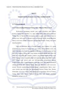 BAB IV TEKTONOSTRATIGRAFI DAN POLA SEDIMENTASI Tektonostratigrafi Formasi Talang Akar (Oligosen-Miosen Awal)