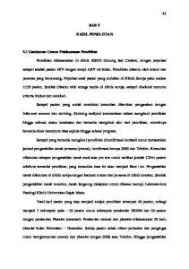 BAB V HASIL PENELITIAN. Penelitian dilaksanakan di klinik RSUD Gunung Jati Cirebon, dengan populasi