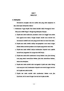 BAB V PENUTUP. Menyurat di SMK Negeri 1 Bangkinang Kabupaten Kampar. b. Kepala tata usaha melalui stafnya menyampaikan surat sesuai dengan