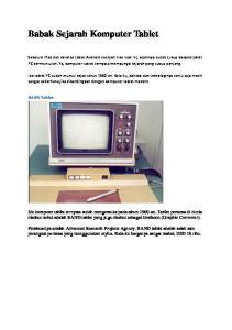 Babak Sejarah Komputer Tablet