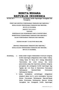 Badan Perencanaan Pembangunan Nasional; Mengingat : 1. Undang-Undang Nomor 28 Tahun