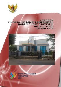 BADAN PUSAT STATISTIK KOTA BITUNG Jl. Stadion Duasudara Manenmbo-nembo Tengah Bitung Telp : (0438)