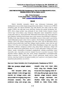 BAKTERI KITINOLITIK Pseudomonas sp TNH 54 DAN PERANANNYA PADA PROSES ENZIMATIS MATERIAL KITIN