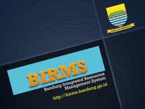 Bandung Integrated Resources Management System (BIRMS)