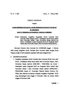 BANK PERKREDITAN RAKYAT SYARI AH DI INDONESIA DAN PT. PERMODALAN NASIONAL MADANI (PERSERO)
