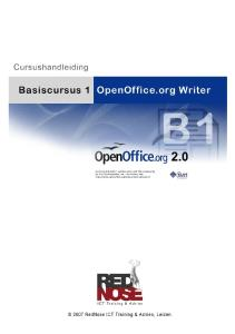 BASISCURSUS I OPENOFFICE.ORG WRITER
