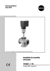 Beépítési és kezelési útmutató EB HU. Villamos állítómű Típus Kiadás: augusztus