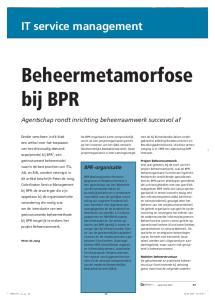 Beheermetamorfose bij BPR
