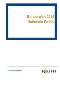 Beheerplan 2016 Nationale Politie