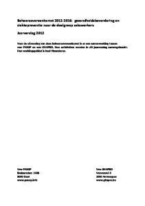 Beheersovereenkomst : gezondheidsbevordering en ziektepreventie naar de doelgroep sekswerkers