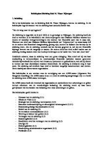 Beleidsplan Stichting Rob M. Visser Nijmegen