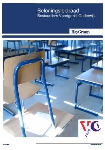 Beloningsleidraad Bestuurders Voortgezet Onderwijs