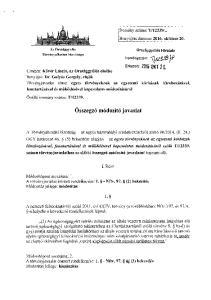 Benyújtás dátuma : október 20. Országgy űlés Hivatala