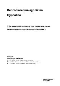 Benzodiazepine-agonisten Hypnotica