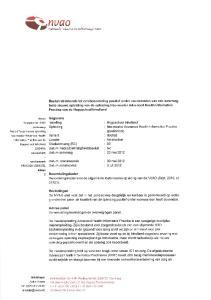 Beoordelingskader. Advies panel. Gegevens. Variant. 30 mei juli Datum locatiebezoek Datum paneladvies