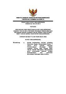 BERITA DAERAH KABUPATEN BANJARNEGARA TAHUN 2013 NOMOR 25 SERI E